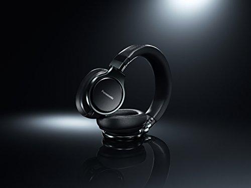 31imVSJRIYL - Panasonic Premium Hi-Res Stereo Over-the-Ear Headphones with Mic + Controller RP-HD10C-K (Black), with Travel Case