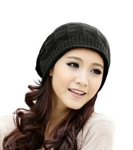 Amazon.com  Eforlife Women Girl Triangle Slouchy Knit Beret Beanie ... 0233775275b