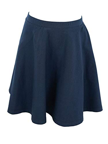 Cotton Skirt Circle (Vivian's Fashions Skirts - Girls, Cotton, Long, Circle (Navy, Large))