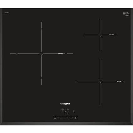 Bosch PIJ651BB2E - Integrado Placa (Integrado, Con placa de inducción, Vidrio, Negro, 15 cm, 1400 W)