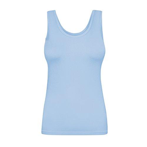 Assoluta Mujer Sport Tank Top Camiseta en suave Colores Azul Rosa Negro Serenity Blue