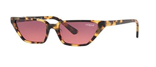 VOGUE Women's 0vo5235s Cateye Sunglasses, Brown Yellow Tortoise, 0 mm ()