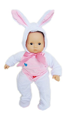 My Brittany's White Bunny Costume for Bitty Baby Dolls (Twin Girl Costumes)