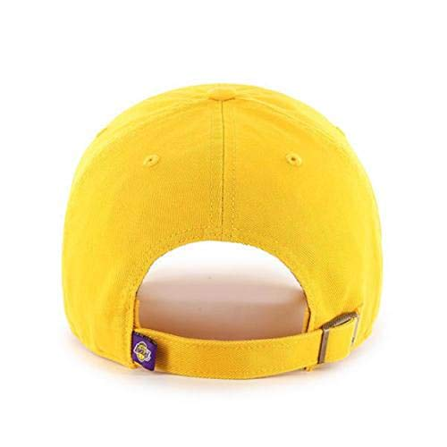 online store c9bfe f8eb1  47 NBA Los Angeles Lakers Clean Up Adjustable Hat, Yellow, One Size by