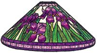"""16"""" Iris Worden Stained Glass Lamp Pattern C1613"""