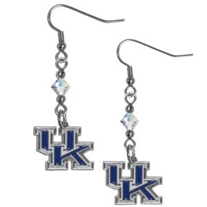 Crystal Wildcats Kentucky Earrings - NCAA Kentucky Wildcats Crystal Dangle Earrings