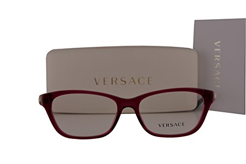 Versace VE3220 Eyeglasses 54-16-140 Red Crystal 5097 VE - Los Eyeglasses Designer Angeles