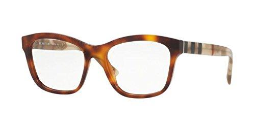 Burberry Women's BE2227 Eyeglasses Light Havana - Designer Eyeglasses Mens