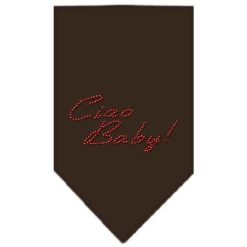 UPC 099994402358, Mirage Pet Products Ciao Baby Rhinestone Bandana, Large, Cocoa