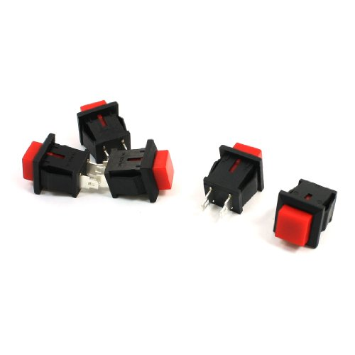 Uxcell Square Head Push Button (Square Push Button Switch)