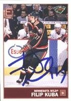 Filip Kuba Minnesota Wild 2004 Exhibit Autographed Card. This item comes with a certificate of authenticity from Autograph-Sports. Autographed