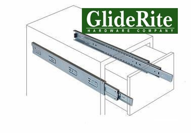 GlideRite Hardware 1870-Z - 18-inch 100 Lb. Full Extension Ball Bearing Drawer Slides with 1'' Over-travel by GlideRite Hardware