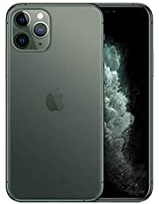 Apple iPhone 11 Pro with FaceTime - 64GB, 4GB RAM,4G LTE, Midnight Green, Single SIM & E-SIM