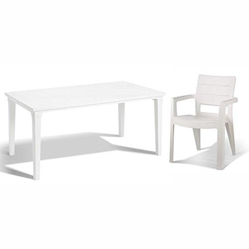 tepro Gartenmöbel-Set Futura und Ibiza weiß