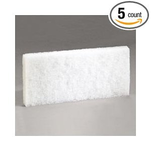 "3M Company White 8440 Doodlebug Cleaning Pad, 4.6"" x 10""-5-Pack from 3M"