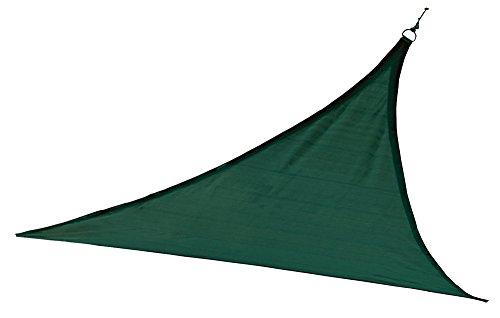 ShelterLogic 12ft Green Sail Heavyweight 12 x 12 ft. Triangle Evergreen Sun Shade, 12 x 12 ,