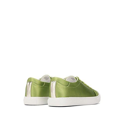 Kenneth Cole New York Kvinna Kam Techni-cole Satin Spets-up Mode Sneaker Grön Satin