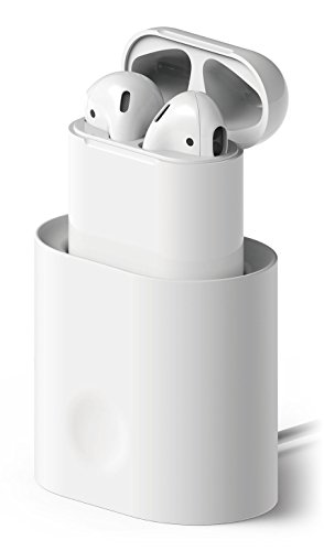 Price comparison product image elago AirPods Stand [White] - [Charging Station][Long-Lasting][Cable Management] - for AirPods Case