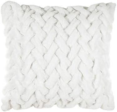 "Costco Parklane Idea Nuova Braided Pillow Cushion White 24""x24"""