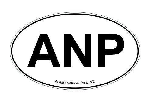 Gabriel Bloor ANP Acadia National Park Maine Oval Vinyl Decal - Lighting Anp
