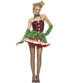 Lady Luck Costume (Leg Avenue Women's Lady Luck Costume, Black/Red,)