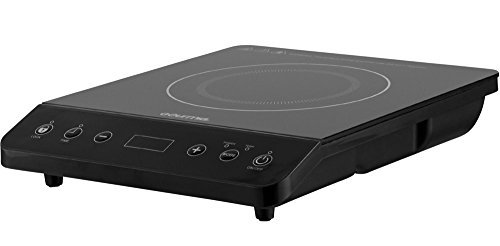 Gourmia GIC200 Multifunction Digital Portable 1800 Watt Induction Cooker Cooktop Countertop Burner with SmartSense Auto Detection, Timer, Temperature and 8 Power Level Controls - 110V
