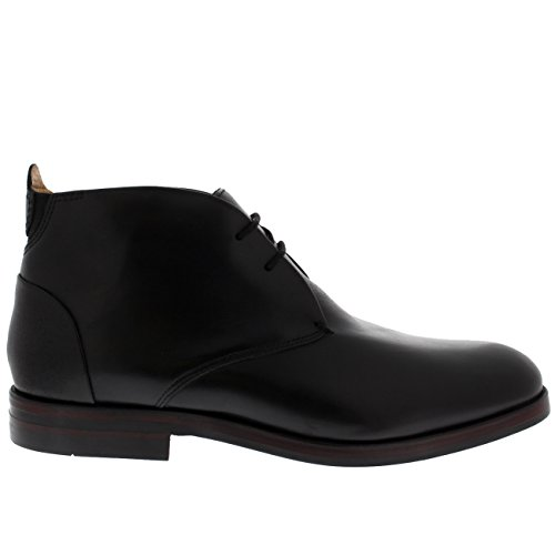 H by Hudson Mens Matteo Calf Formal Leather Office Smart Chukka Boots Black DaCrwnxbg