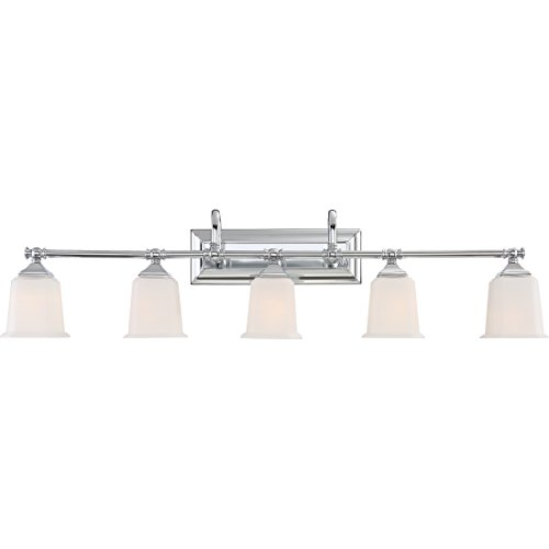 Large Five Light (Quoizel NL8605C Five Bath Light, Polished Chrome)