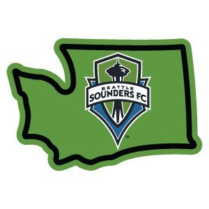 (Seattle Sounders Sticker - Washington Green Vinyl Decal Label Stickers, Die-Cut Shape for Water Bottle Laptop Luggage Bike Laptop Car Bumper Helmet Show Love Pride Local Spirit. MLS Soccer)