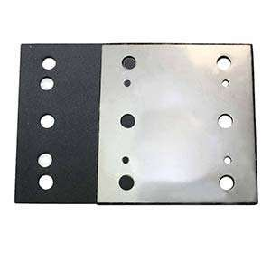 Superior Pads and Abrasives SPD19 1/4 Sheet, 6 Hole Stick on Square Sanding Pad replaces Milwaukee 14-67-0275, Ridgid 200202538
