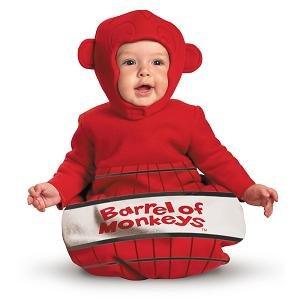 Barrel of Monkeys Game Infant Baby Costume