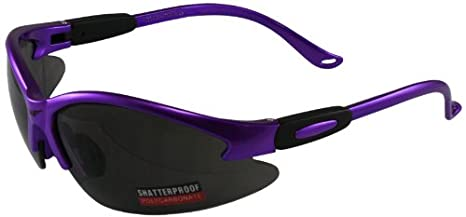 Global Vision Safety Shop Glasses (Purple Frame/Clear Lens) COUGARPRCL
