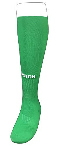 Olympic Soccer Socks Multiple Colors and Sizes - Elastic Socks with Full Cushioned Footbed - Super Stretchable for Extra Comfortable Footwear, 90% Nylon & 10% Elastic (Kelly Green/White)