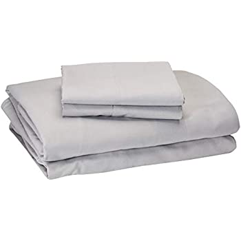 Comfort Spaces Coolmax Moisture Wicking 4 Piece Set Smart Bed Cooling Sheets for Night Sweats, Full, Grey