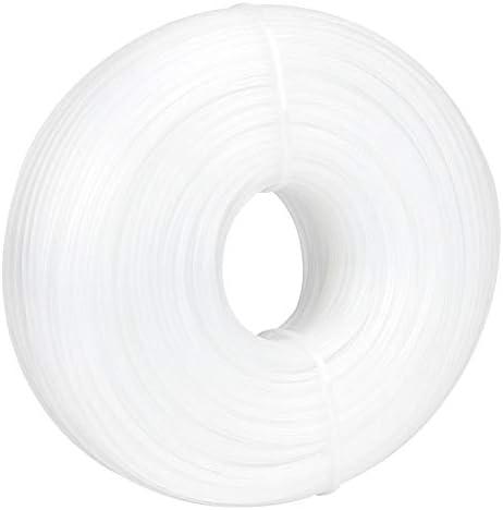 Boquite Gras trimmer lijn nylon trimmer lijn 24 mm x 90 m ronde vormige witte nylon trimmer lijn touw tuin grasmaaier accessoire