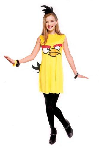 Big Bird Costume Girl - Yellow Bird Dress Child Costume - Large