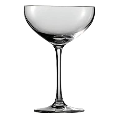 Schott Zwiesel Tritan Crystal Glass Saucer Champagne, 9-1/2-Ounce, Set of 6