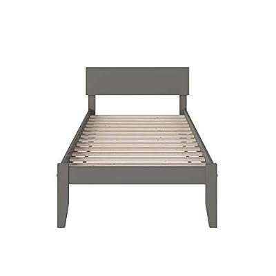 Atlantic Furniture Orlando Platform Bed, Twin, Grey: Kitchen & Dining