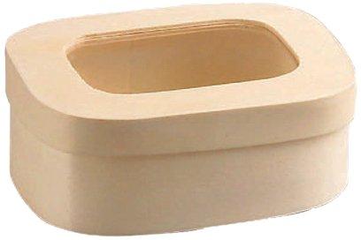 PackNWood 210BBOITE118F Rectangular Wood Box with Window Lid - 8 oz - 4.3 x 3 x 2'' - 100 per case by PacknWood