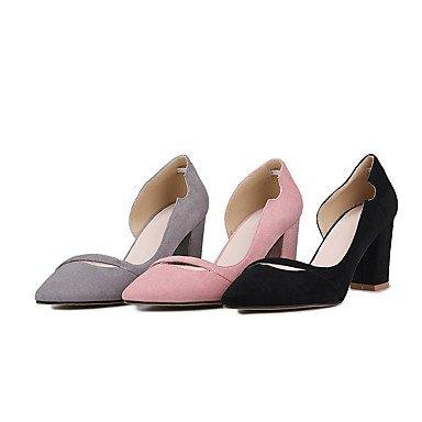 LYNXL Talloni delle donne Primavera Estate Autunno Inverno Club Scarpe  Fleece ufficio Wedding & vestito da carriera tacco grosso nero grigio rosa,  rosa, ...