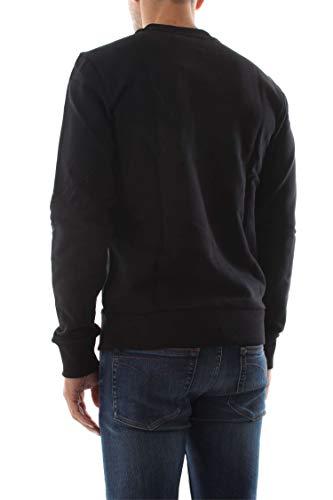 Black Klein Felpa K10k102724 Calvin Logo Cotton Uomo YnaqPdx