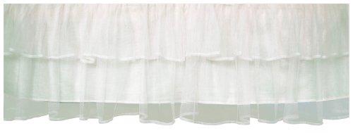 Tadpoles Triple Layer Tulle Crib Skirt in White - bedroomdesign.us
