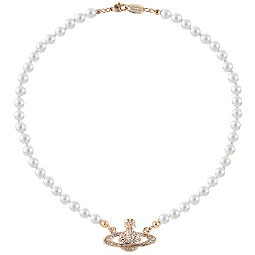 Vivienne Westwood Golden Saturn Pearl Necklace