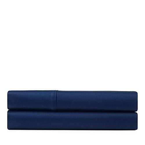 Highland Flat Sheet - Ralph Lauren Bedgord Jacquard Queen Size Flat Sheet Highland Navy 800 Thread Count 100% Cotton-