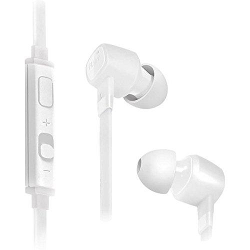iLuv IEP386WHT JetTurbo High-Performance Earphones with SpeakEZ Remote for Smartphones, -