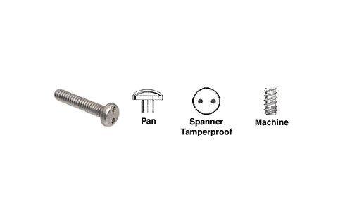 8-32 x 1'' Pan Head Spanner Tamperproof Machine Screws Pack of 100 by CR Laurence