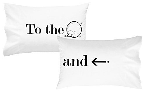 Oh, Susannah to the Moon and Back Pillow Case His and Her Wedding Anniversary Gift Engagement Gifts(2 Standard / Queen Size Pillowcases) Gifts for her