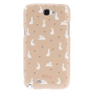 MOFY-Conejo Caso duro del patr—n de superficie mate para Samsung Galaxy Note N7100 2