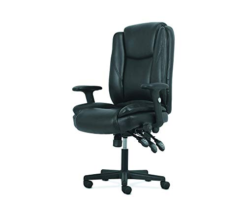 Office Home Furniture Premium High-Back Leather Office/Computer Chair - Ergonomic Adjustable Swivel Chair with Lumbar ()