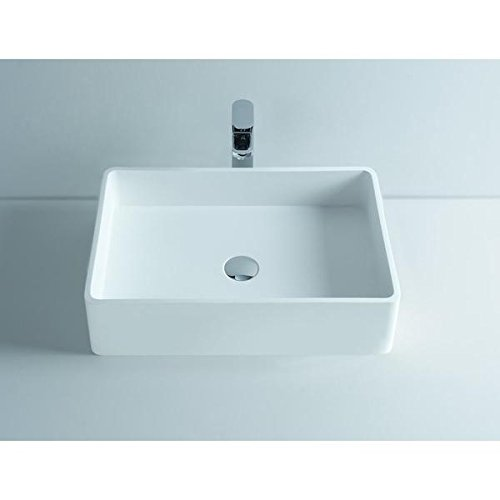 ID Top Rectangular Solid Surface Vessel Sink Bowl Above Counter Sink Lavatory by ID Bath Collection